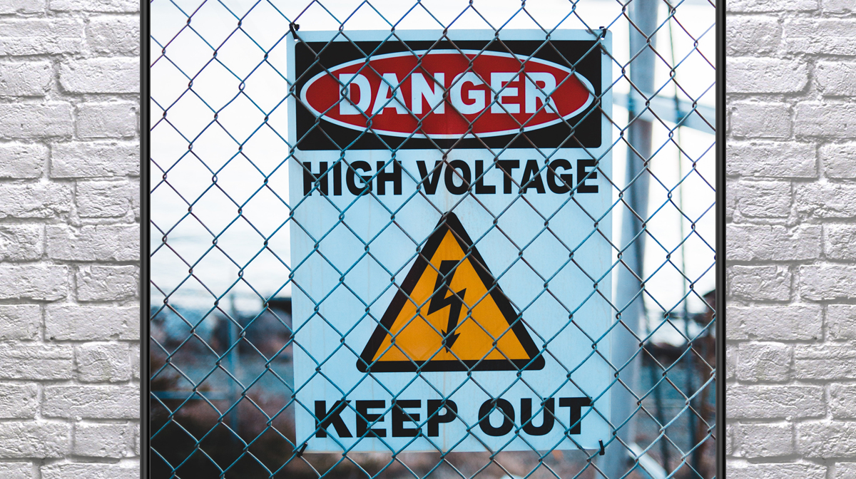 Power Lines and Lockout/Tagout - Learn Electrical Safety Sign/Symbol